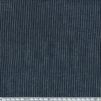 Tissu métis rayé marine et blanc 20 x 140 cm