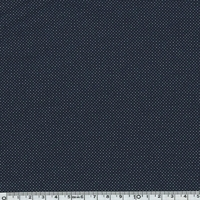 Jersey poly-viscose micro pois fond marine 20 x 140 cm