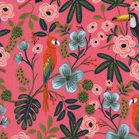 Viscose Rifle Paper Ménagerie Paradise Garden corail 20 x 110 cm