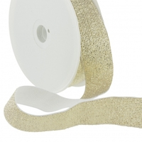 Elastique lurex 30mm doré x10cm