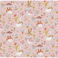 DERNIER COUPON Liberty Goosey Gladrags rose 1m x 137 cm
