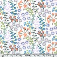 Liberty Primula Blossom parme et bleu coloris C 20 x 137 cm
