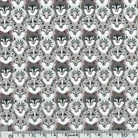 COUPON Liberty Wolf Pack gris 40 x 137 cm