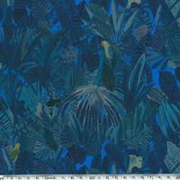 Liberty Popeline Jungle Tapestry coloris A 20 x 140 cm