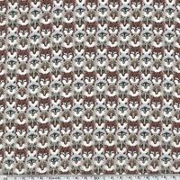 DERNIER COUPON Liberty Wolf Pack roux coloris B 55 x 137 cm
