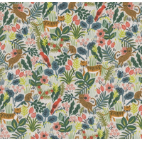Tissu Rifle Paper Ménagerie Jungle Hunter fond beige 20 x 110 cm