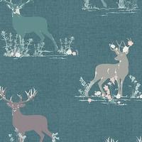 Jersey Blithe Dear Deer Teal 20 x 150 cm