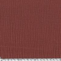 Tissu double gaze de coton unie coloris marsala 20 x 135 cm