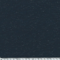 COUPON de jersey viscose lurex coloris marine 40 x 140 cm