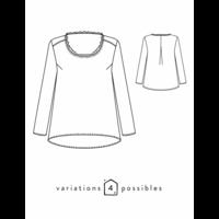 Patron blouse Bohème (34-48)