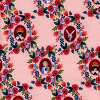 Tissu Wonderland Cameos Rose 20 x 110 cm