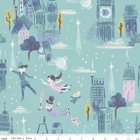 Tissu Neverland London by night 20 x 110 cm