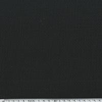 Coton gaufré noir 20 x 135 cm