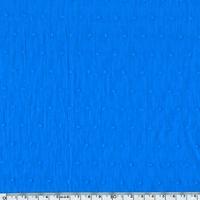 Plumetis coloris bleu vif 20 x 140 cm