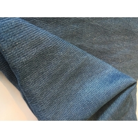 "Tencel denim rayé murex effet ""brushed"" 20 x 140 cm"