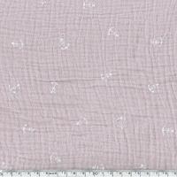 Tissu double gaze de coton ancre marine coloris lilas 20 x 135 cm