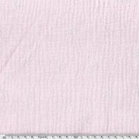 Tissu double gaze de coton ancre marine coloris rose clair 20 x 135 cm