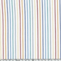 Voile de coton Stripe coloris multicolore 20 x 140 cm