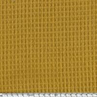 Tissu Nid d'abeille moutarde 20 x 140 cm