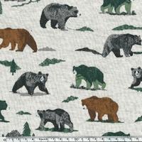 Molleton Grizzly Bear 20 x 140 cm