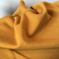 DERNIER COUPON molleton à paillettes moutarde 40 x 140 cm