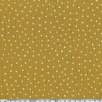 Tissu double gaze à pois coloris moutarde 20 x 135 cm