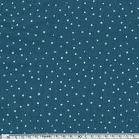 Tissu double gaze à pois coloris bleu pétrole 20 x 135 cm