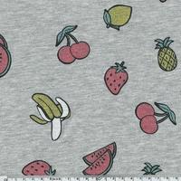 Jersey tutti frutti paillettes 20 x 140 cm