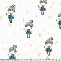 Jersey petite princesse paillettes 20 x 140 cm