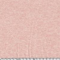 Jersey 95% coton 5% spandex rose chiné 20 x 140 cm