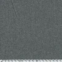 Tissu coton effet chambray noir  20 x 140 cm