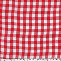 Tissu Vichy coloris Rouge 20 x 140 cm