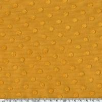 Jersey plumetis coloris moutarde 20 x 140 cm
