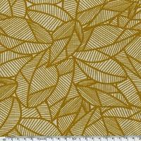 Tissu Feuillages coloris moutarde 20 x 140 cm