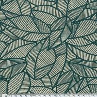 Tissu Feuillages coloris pétrole 20 x 140 cm