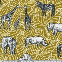 Tissu Safari moutarde 20 x 140 cm