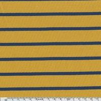 Sweat léger rayé moutarde et marine 20 x 140 cm