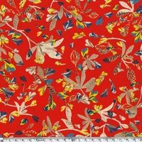 Crêpe lisse Komaki coloris rouge 20 x 140 cm