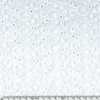 Broderie anglaise motif Londres 20 x 140 cm
