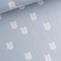 Sweat léger imprimé Screens coloris Bleu poussière 20 x 150 cm