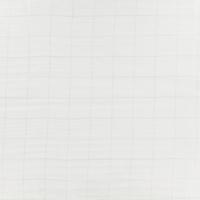 Double gaze lisse FDS carreaux argent fond blanc 20 x 140 cm
