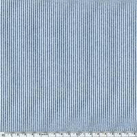 Seersucker mini rayure bleu 20 x 140 cm