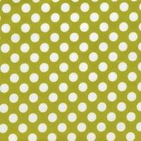 DERNIER COUPON Tissu Ta Dot céleri 45 x110 cm