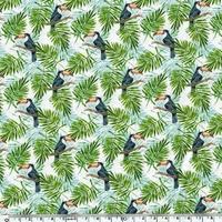 Popeline Toucans 20 x 140 cm