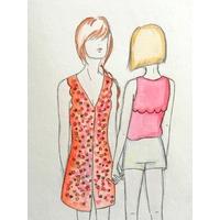 Patron robe/blouse Bloom