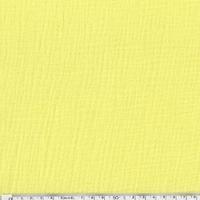 Tissu double gaze de coton unie coloris jaune soleil 20 x 130 cm