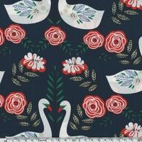 Crêpe lisse Swan 20 x 140 cm