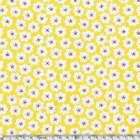 Coton fleur pop coloris jaune 20 x 140 cm