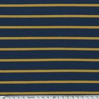 Sweat léger rayé marine et moutarde 20 x 140 cm