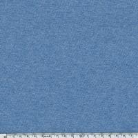 Jersey 95% coton 5% spandex bleu chiné 20 x 140 cm